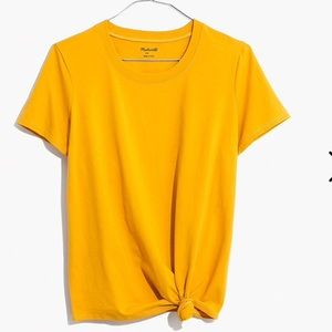 NWOT MADEWELL KNOT-FRONT TEE